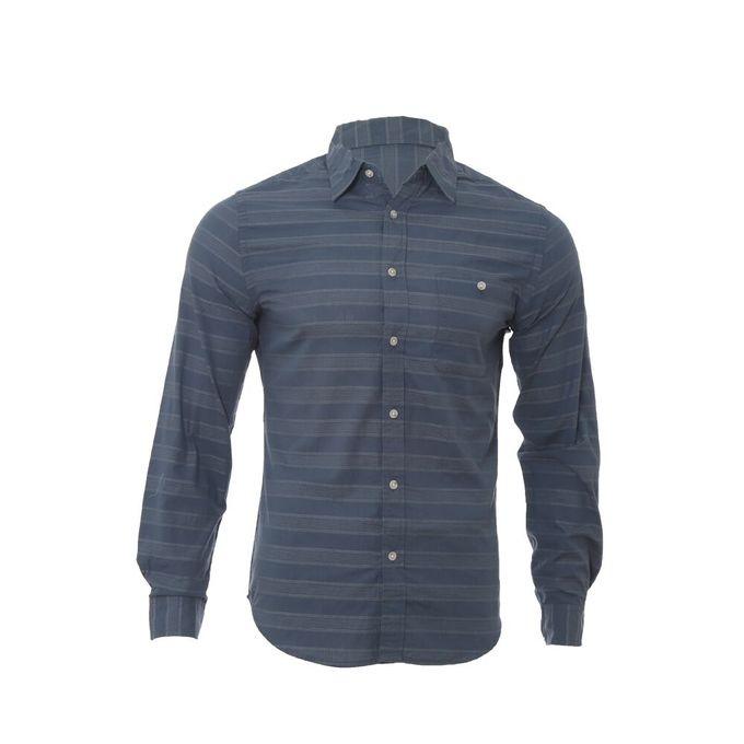 chemise_homme_-_coton_-_bleu